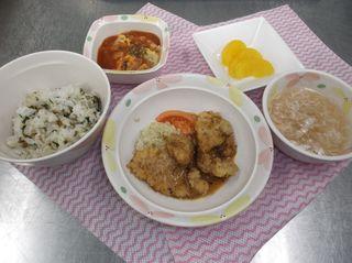 中華風豚肉の塩麹天ぷら